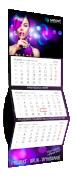 Kalendarz trójdzielny standard XXL, kolor