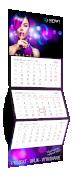 Kalendarz Trójdzielny standard, kolor