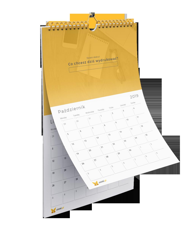 Kalendarze jednodzielne z magnetycznym okienkiem