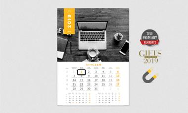 Ikona - Kalendarze jednodzielne z magnetycznym okienkiem