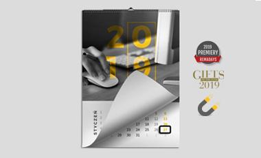 Ikona - Kalendarze ścienne spiralowane z magnetycznym okienkiem