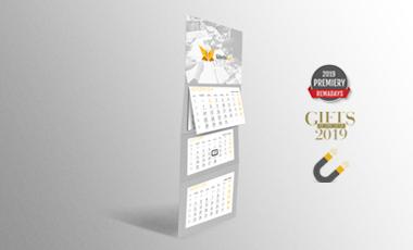 Ikona - Kalendarze trójdzielne z magnetycznym okienkiem