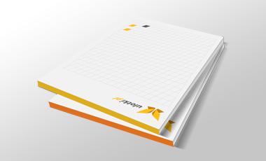 Ikona - Notesy firmowe z kolorowym klejem
