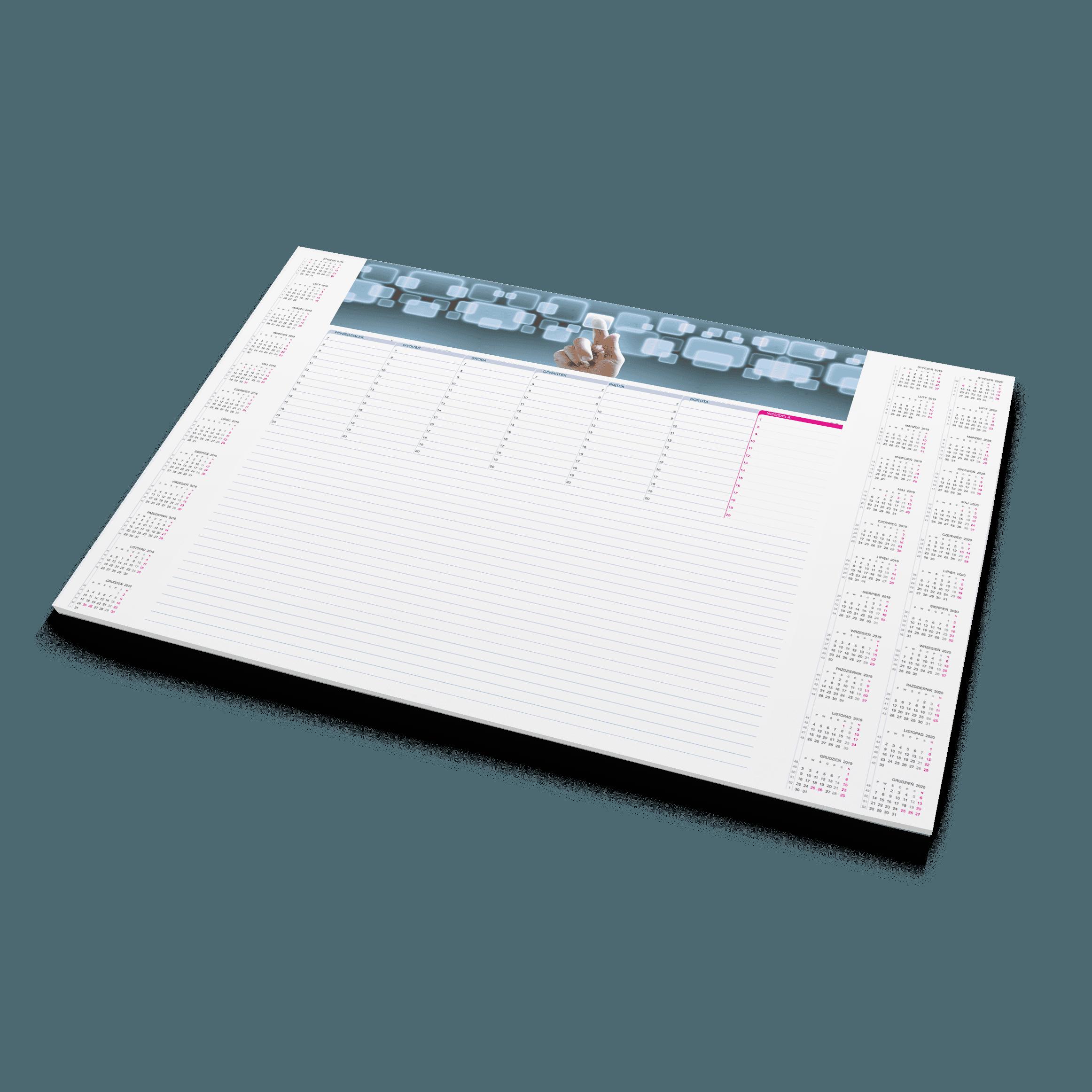 Planer na biurko (biuwar)