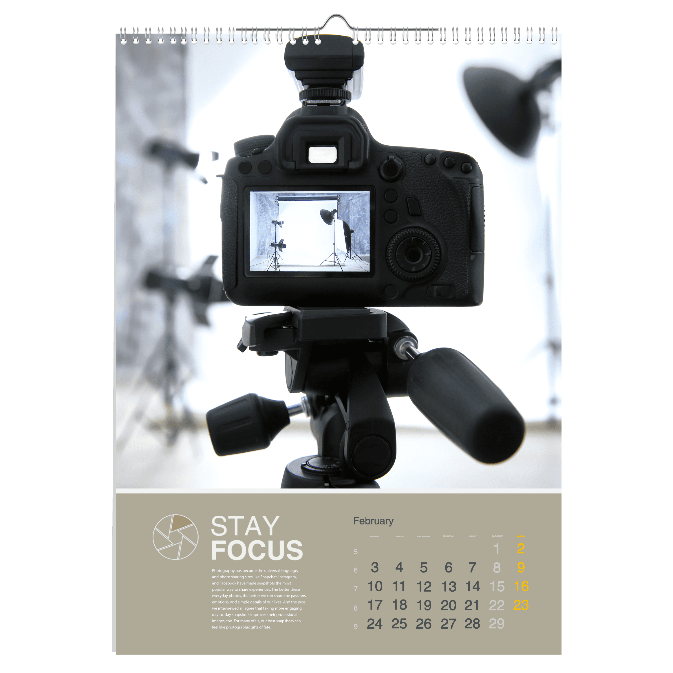 Kalendarz wieloplanszowy spiralowany 320 x 470