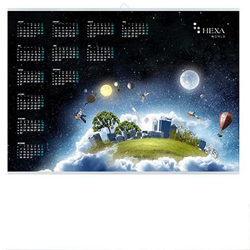 Kalendarz plakatowy (jednoplanszowy) poziomy