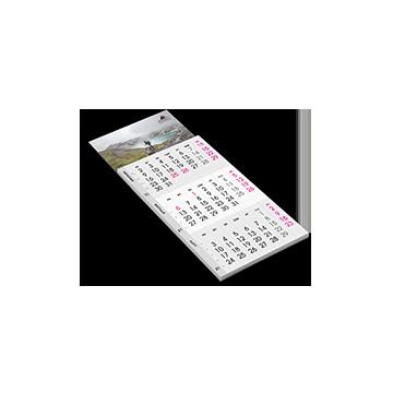 Kalendarz z magnesem trójdzielny