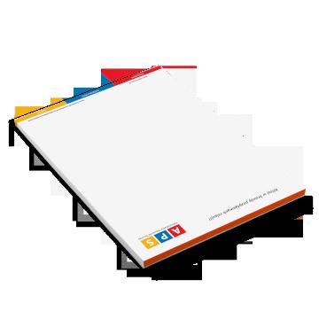 Notes klejony bez okładki (A6, A5, A4)