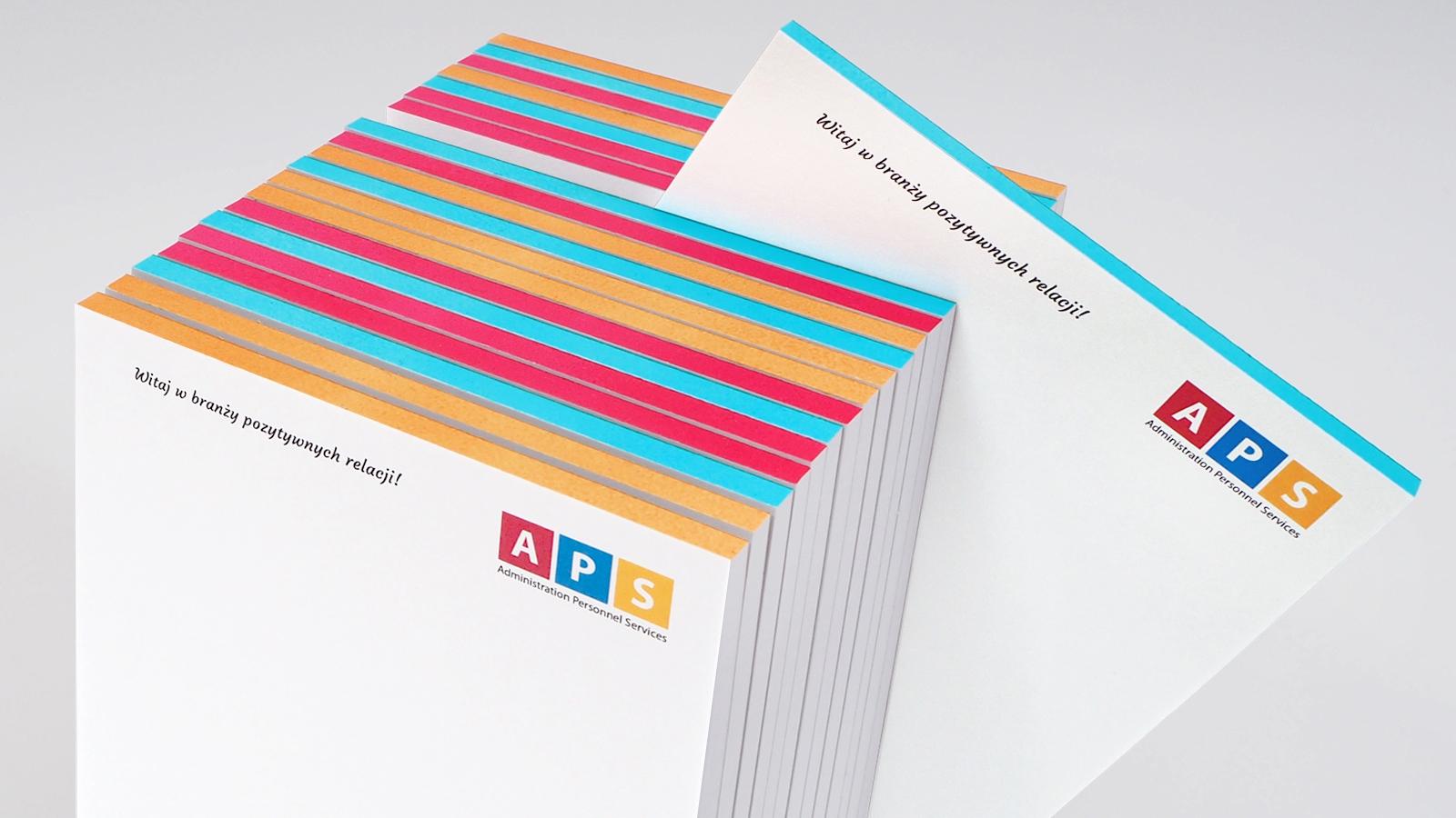 APS – notes klejony bez okładki A6 z kolorowym grzbietem