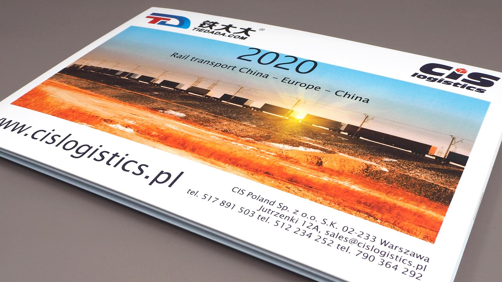 CIS logistic - kalendarz czterodzielny z płaską główką i białą kopertą