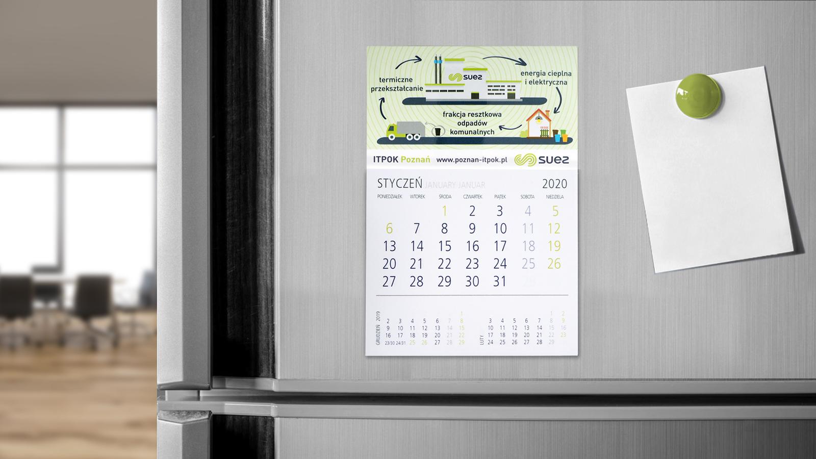 ITPOK – kalendarz z magnesem jednodzielny