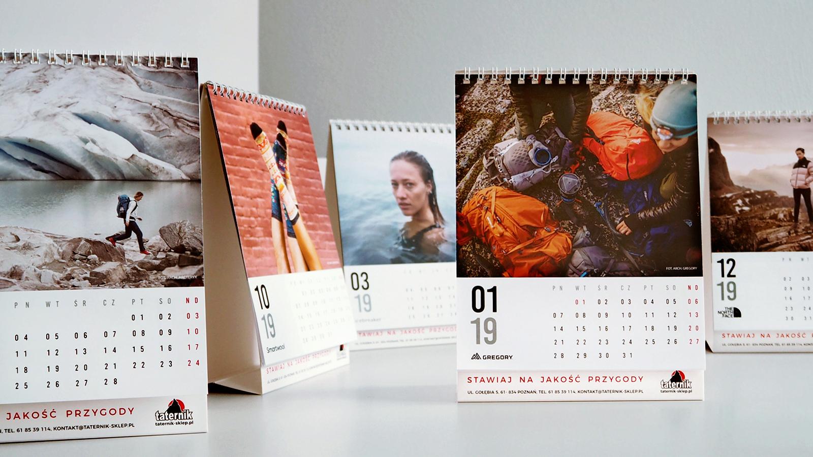 Taternik – kalendarz biurkowy stojący (piramidka), spiralowany